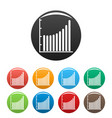 business diagram icons set collection circle vector image vector image