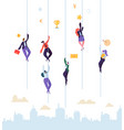 business people climbing to success businessman vector image
