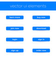 buttons for web and apps ui elements vector image