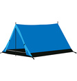 Camping tent blue vector image vector image