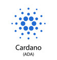 cardano cryptocurrency symbol vector image vector image