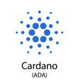 cardano cryptocurrency symbol vector image vector image