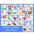 Children Alphabet with Animals Letters Set vector image