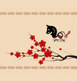 chinese new year 2018 background with dog year of vector image vector image