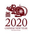 chinese new year celebration template vector image
