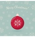 Christmas tree toy on winter backdrop vector image vector image
