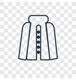 cloak concept linear icon isolated on transparent vector image