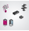 collection of modern furniture-EPS10 vector image