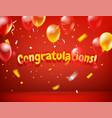 congratulations horizontal greeting card happy vector image vector image