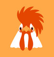 cool rooster face front side vector image