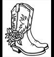 cowboy boots with american traditional ornate