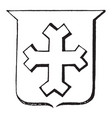 cross fourch having the extremities divided into vector image vector image