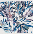 fashion floral pattern with tropical palm leaves vector image vector image