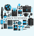 flat design concept of school and equipment vector image