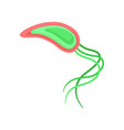 flat vecrtor icon of dangerous virus with long vector image vector image