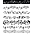 Floral ornaments lineart vector image vector image