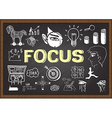 Focus on chalkboard vector image vector image