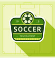 football green badge vector image vector image