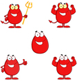 Funny Red Easter Eggs Collection vector image vector image