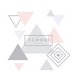 geometric scandinavian pattern background vector image vector image