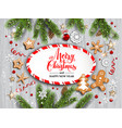 gingerbreads stars and snowflakes vector image vector image