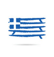 greek flag in blue and white color vector image vector image