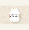 happy easter background decorative text eggs vector image vector image