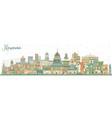 havana cuba city skyline with color buildings vector image