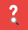 icon concept of question mark with magnifying vector image