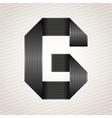 Letter metal ribbon - G vector image vector image