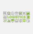 logistics concept minimal vector image vector image