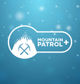 logotype mountain patrol vector image