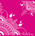 mandala on pink background vector image vector image