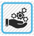 Mechanics Service Icon In a Frame vector image vector image