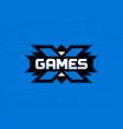 modern professional emblem extreme games vector image