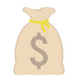 money bag flat icon business and finance vector image
