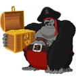 Monkey harsh pirate vector image