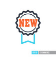 new tag and ribbons icon vector image