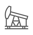 oil and petrol industry line icon vector image vector image