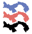 Panama map vector image vector image