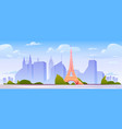 paris landscape france city skyline background vector image
