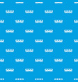 passenger carriage pattern seamless blue vector image vector image