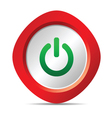power button in red color vector image vector image