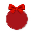 price tag with red bow isolated white background vector image vector image