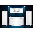 reception exhibition counter vector image vector image