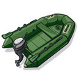 rubber motor boat vector image