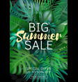 sale vertical banner poster with palm leaves vector image vector image
