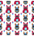 seamless pattern with fantastic cute owl vector image vector image