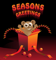 seasons greetings vector image vector image