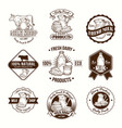 set badges stickers vector image vector image